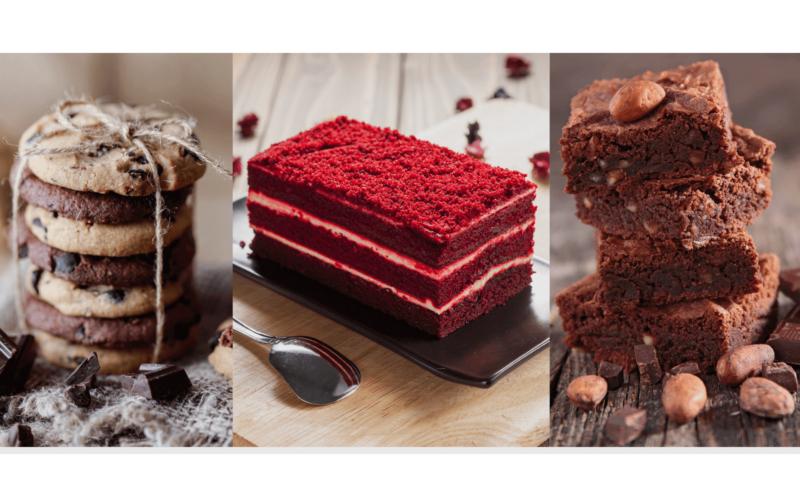 corso pasticceria americana red velvet cookies brownies